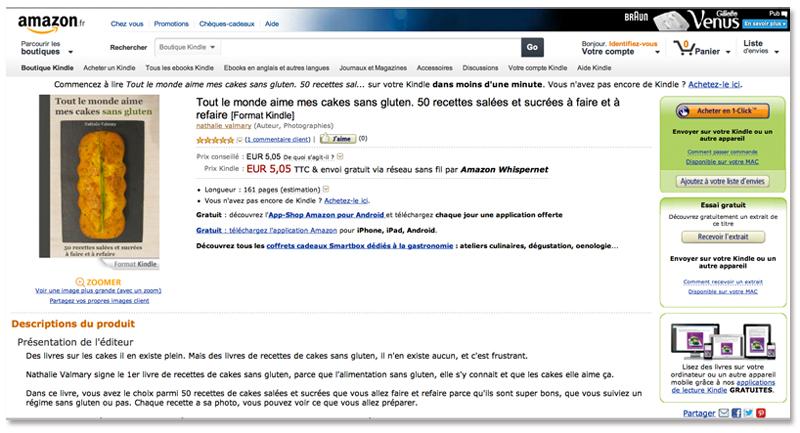 Tout le monde aime mes cakes sans gluten sur Amazon.fr
