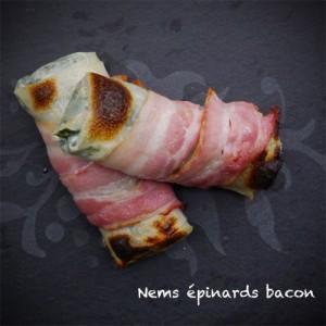 nems épinards bacon