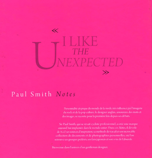 Livre Notes de Paul Smith