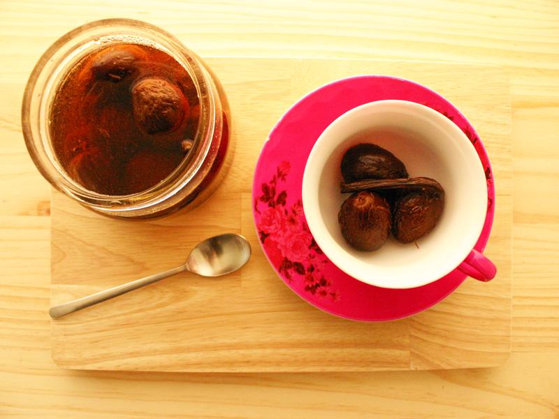 pruneaux au thé et à la vanille