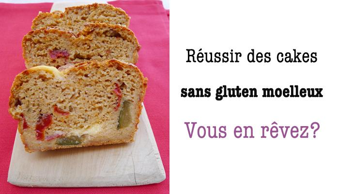 des cakes sans gluten moelleux